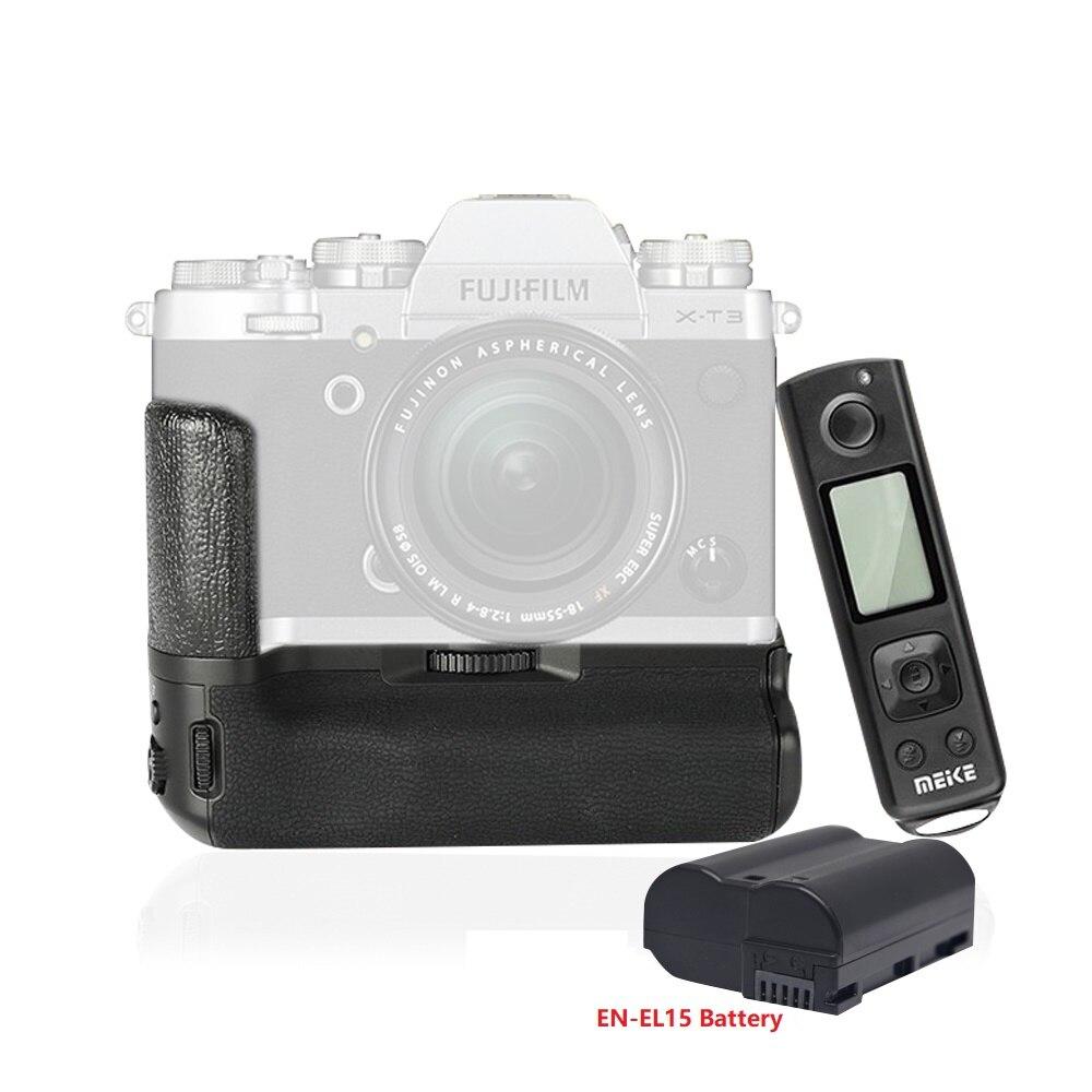 Mcoplus Meike MK-XT3 Pro poignée de batterie verticale intégrée 2.4GHz télécommande pour appareil photo Fujifilm Fuji X-T3 XT3.