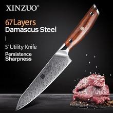 XINZUO-cuchillo de acero inoxidable de alta calidad, 5 pulgadas, serie japonesa, acero damasco, nuevo