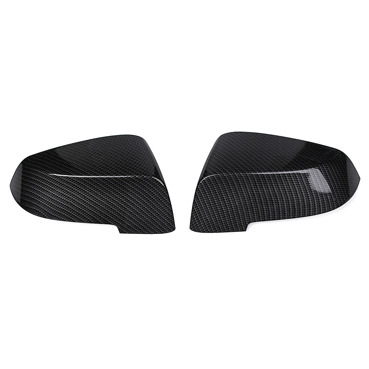 Hot Sale 1 Pair Carbon Fiber Side Wing Replacement Rearview Mirror Cover Cap for <font><b>BMW</b></font> F10 <font><b>F11</b></font> 2014 <font><b>2015</b></font> 2016 2017 image