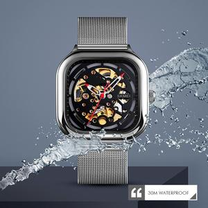 Image 5 - SKMEI Fashion Quartz Watch Men Mechanical Automatic Watches Waterproof Hollow Art Stainless Steel Strap Male Clock montre homme