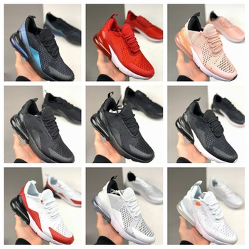 2020 new max 270 running shoes for man and women breathable air mesh adult sport shoes outdoor red blake snakers