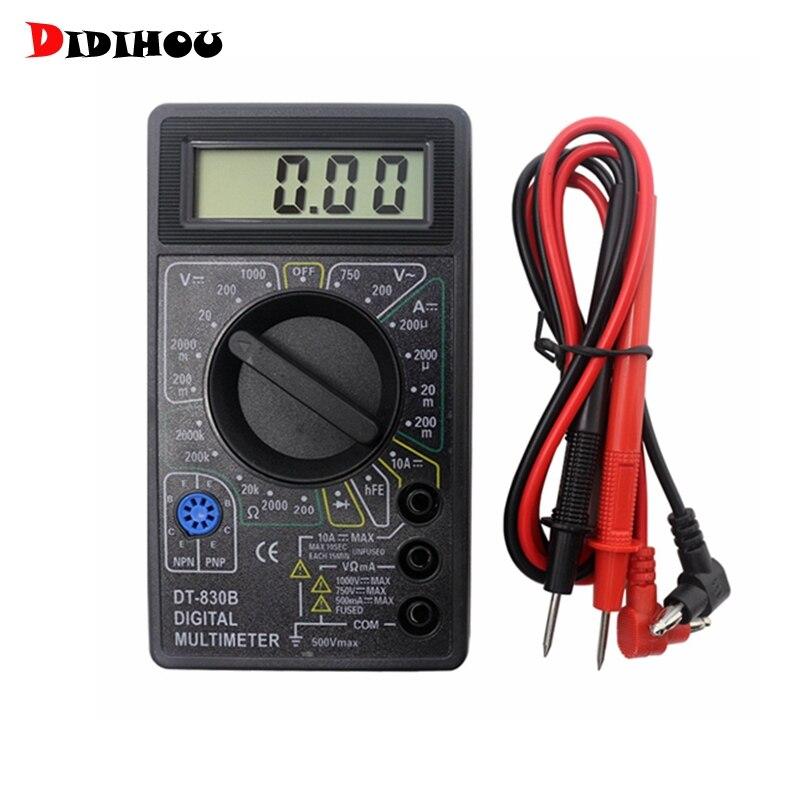Цифровой мультиметр DIDIHOU DT830B, вольтметр, амперметр, Омметр, постоянный ток 10-1000 В, 10 А, 750 В, тестер тока, цифровой зонд, испытательные выводы