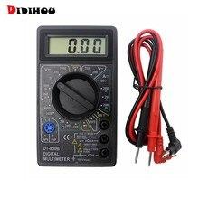 DT830B DIDIHOU LCD Multímetro Digital Voltímetro Amperímetro Ohmmeter DC10V ~ 1000V 10A 750V Atual Tester Digital probe Condutores de Teste
