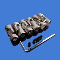 2/3/3.17/4/5/6/6.35/8/10mm Boat Car Shaft Coupler Motor Connector Metal Universal Joint Coupling