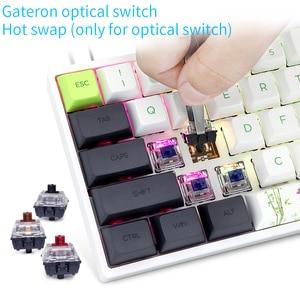 Image 4 - GK61 Mini teclado mecánico portátil Panda para videojuegos, teclado inalámbrico con Bluetooth para jugadores, con iluminación RGB mixta, Gateron, eje de interruptor