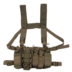 Multicam Tactical Ammo Chest Rig Removable Hunting Airsoft Paintball Gear Vest With AK 47/74 Magazine Pouch(China)