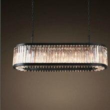 Vintage lámparas ovaladas de iluminación LED de cristal moderna lámpara de prisma luz lustres de cristal para casa decoración de bodas hotel