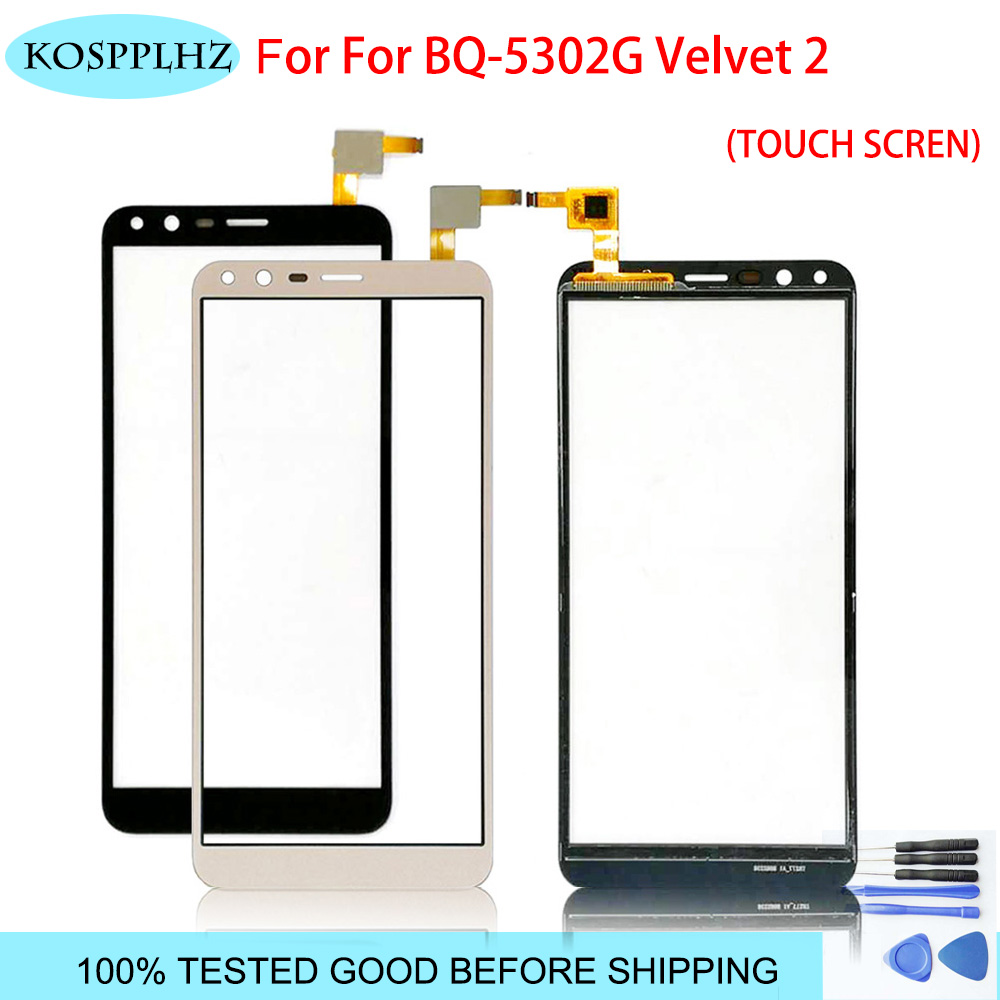 5.34 Inches Black For BQ 5302G BQ5302 BQ 5302 Touch Screen Touch Panel Sensor Cell Phone Accessories +Tools Gift