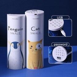 Kapasitas Besar Kucing Pensil Case Estojo Escolar Nbx Elektronik Sandi Kunci Kotak Pensil Multifungsi Sekolah Kotak Pensil