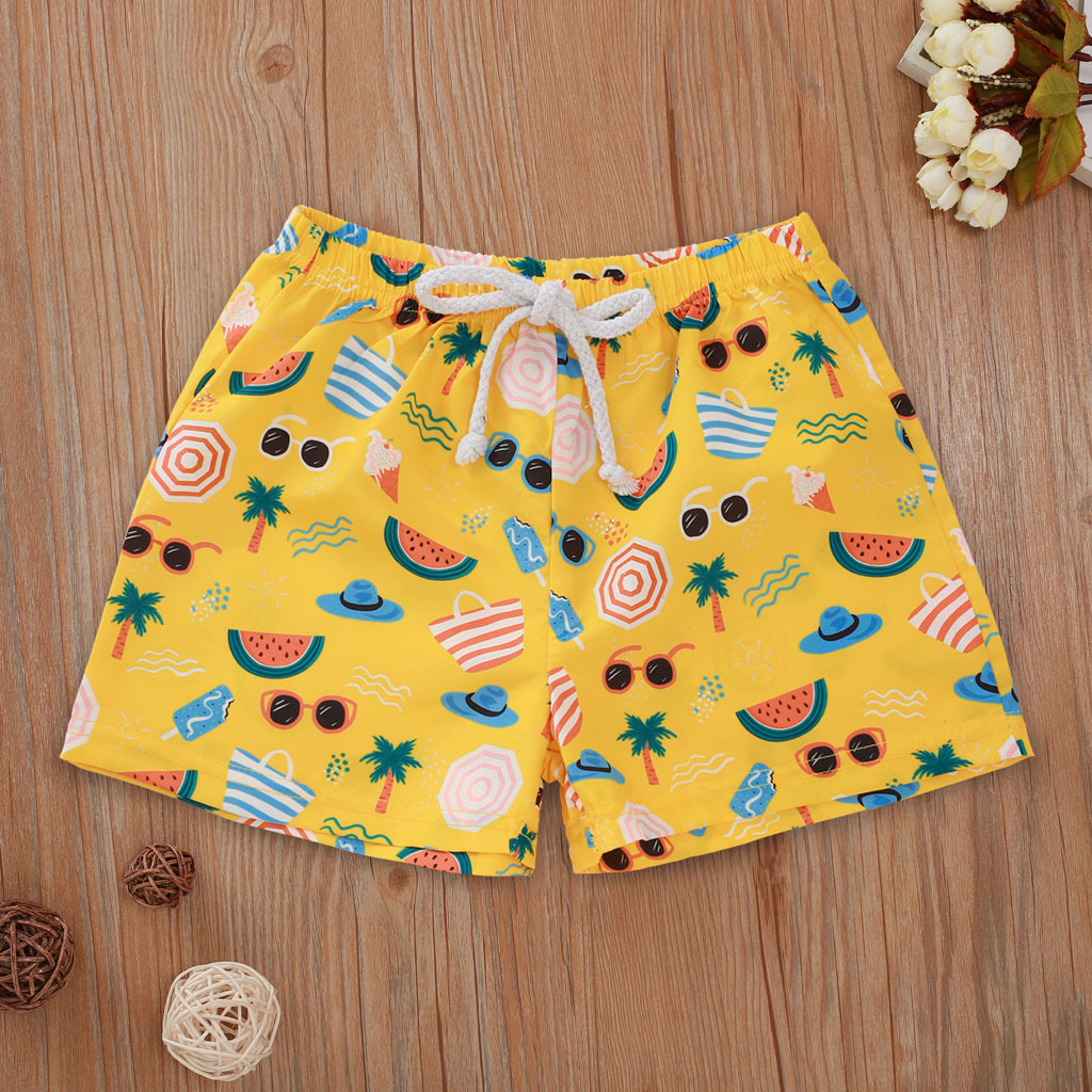 Swimsuit The New Floral Casual Elastic Waistband Beach Shorts Summer Children's Swimsuit Boy Kids Baby Swimwear