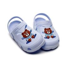 цены Summer Shoes For Kids Beach Sandals Kids Closed Toe Toddler Soft Sole Sandals Children Fashion Design Shoes For Boys&Girls B0003