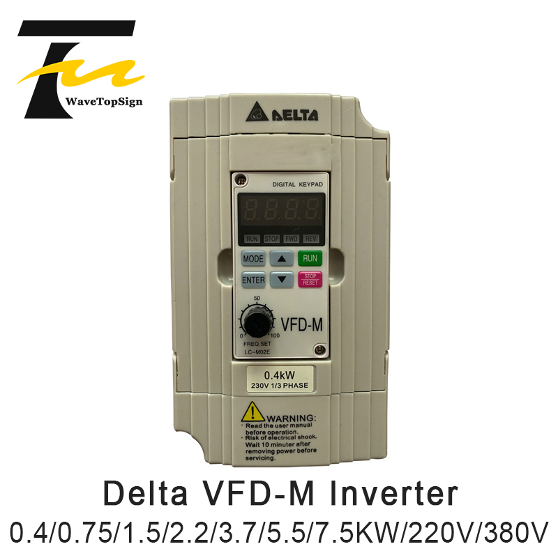 Оригинальный Дельта Инвертор 0.4KW 0.75KW 1.5KW 2.2KW 3.7KW 7.5KW 220V 380V VFD-M передачи