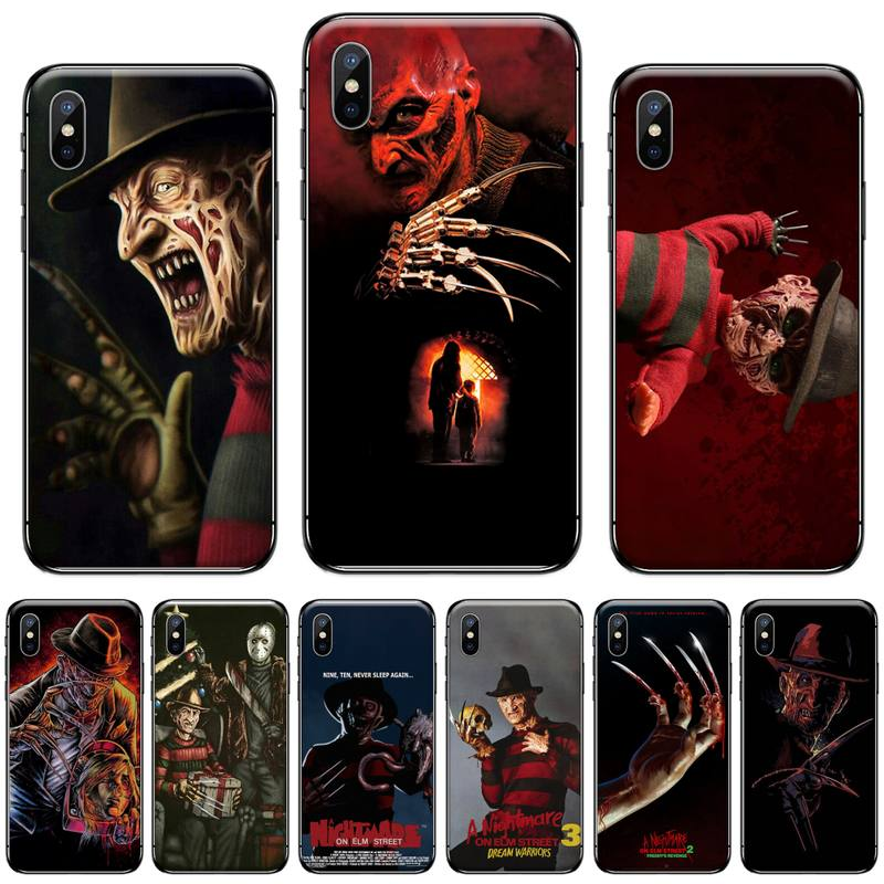 demon Freddy Krueger Fierce <font><b>ghost</b></font> street Cover Black <font><b>Shell</b></font> Phone <font><b>Case</b></font> For iphone 5 5s 5c se 6 6s 7 8 plus x xs xr 11 pro max image