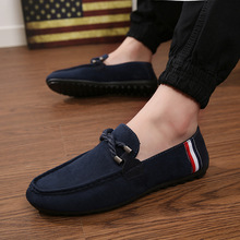Mens Casual Canvas Shoes Slip-on Low Top Loafers Fashion Sneakers Leisure Oxford Derby Shoes Europe Luxury Gentry Retro 2020 New suede low top slip on sneakers