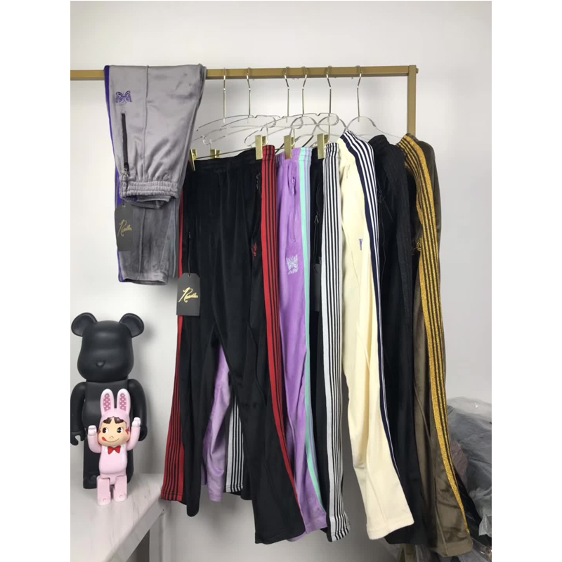 2020 New AWGE Needles Pants Rocky Pants Hip Hop 1:1 High Quality Butterfly Embroidery Track Sweatpants Japan Needles Trousers