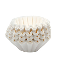 1000pcs Unbleached Coffee Filter Paper Cones Cups Coffee Strainer Tool for American Coffee Machine White 25CM