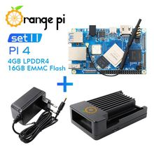 Protective-Case Development-Board Orange Pi Debian Ubuntu Android 4G16G Power-Supply-Support
