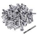65 упаковка  нержавеющая сталь защитные втулки для 1/8 5/32 или 3/16 дюймовых кабельных перил со сверлом