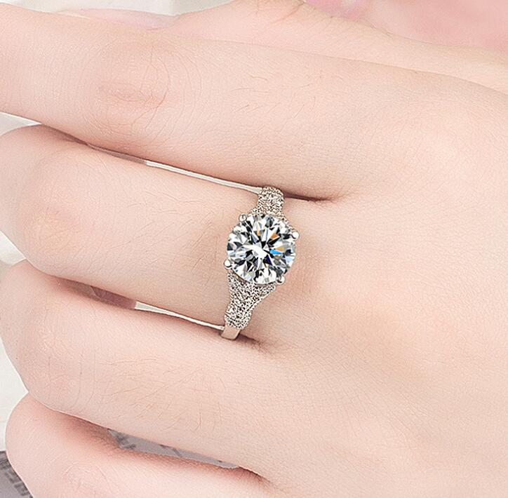 Silver Color Engagement Ring Zirconia Jewelry Rings Fashion jewelry rose gold and Gold women Crystal ring 10