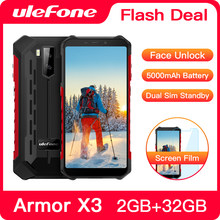 "Ulefone Armor X3 Rugged Smartphone Android 9.0 IP68 Android 5.5"" 2GB 32GB 5000mAh 3G Rugged Cell Phone Mobile Phone Android(China)"