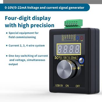 Digital 4-20mA 0-10V Voltage Signal Generator 0-20mA Current Transmitter Professional Electronic Measuring Instruments high precision handheld portable 4 20ma 0 10v signal generator adjustable current voltage analog simulator with led display
