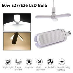 60 Вт E27 светодиодный лампы SMD2835 супер яркий Складной вентилятор угол лезвия Регулируемая потолочная лампа для дома энергосберегающие лампы
