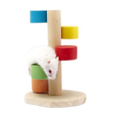 Hamster Toy font b Pet b font Rat Wood Jumping Climbing Ladder Hamster Scaling Ladder Play