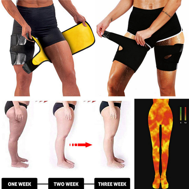 Slim Thigh Trimmer Leg Shapers Slender Slimming Belt Neoprene Sweat Shapewear Toned Muscles Band Thigh Slimmer Wrap L/XL 4