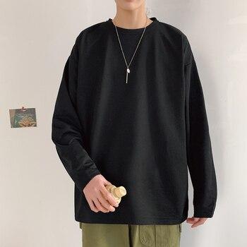 2021 Spring Autumn Long Sleeve T-shirts Men O-Neck Collar Long T Shirts Men Fashion Casual Comfortable Long T-Shirts Men