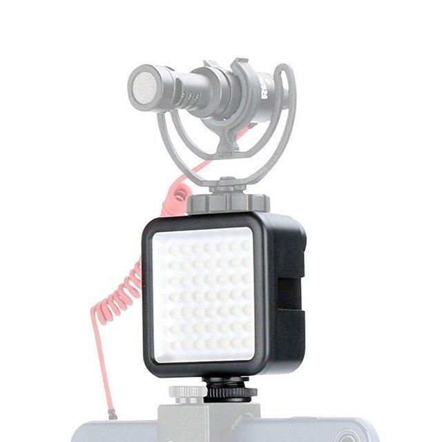 Ulanzi 울트라 밝은 49 LED 비디오 빛 3 핫슈 디 밍이 휴대용 높은 전원 패널 비디오 빛 캐논 니콘 스마트 폰