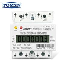 30(100) trilho monofásico a 220v 230v 50hz 60hz max 100a kwh watt hora din-medidor de energia ferroviária lcd