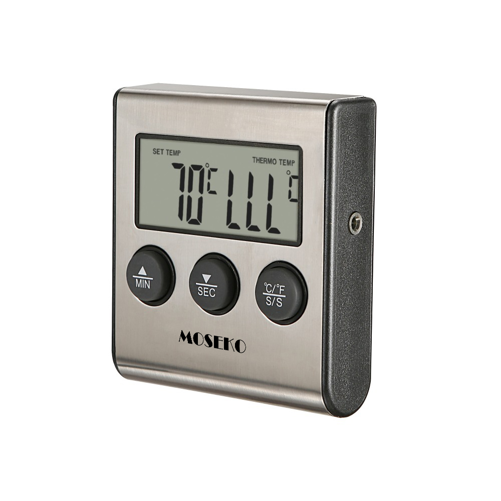 Image 3 - MOSEKO Digital Kitchen Thermometer Oven Food Cooking Meat BBQ Probe Thermometer With Timer Milk Water Temperature Cooking Tools-in Temperature Gauges from Home & Garden