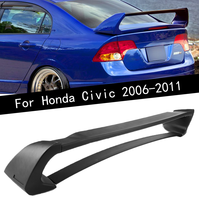 For 06-11 Civic Mugen RR PP Front Bumper Side Skirt Rear Lip Trunk Spoiler
