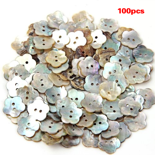 New-100x15mm Pearl Buttons Mother of Pearl Shell Flower Button