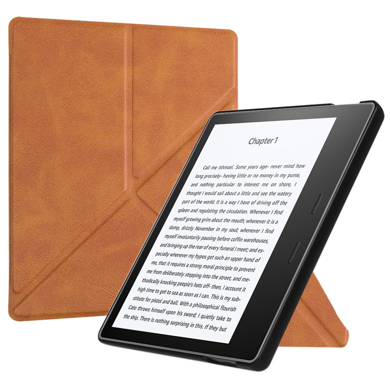 BOZHUORUI Origami Case for New Kindle Oasis (9th-10th Generation,2017-2019 Release) - Slim <font><b>Fit</b></font> Stand Cover with Auto Wake Sleep image