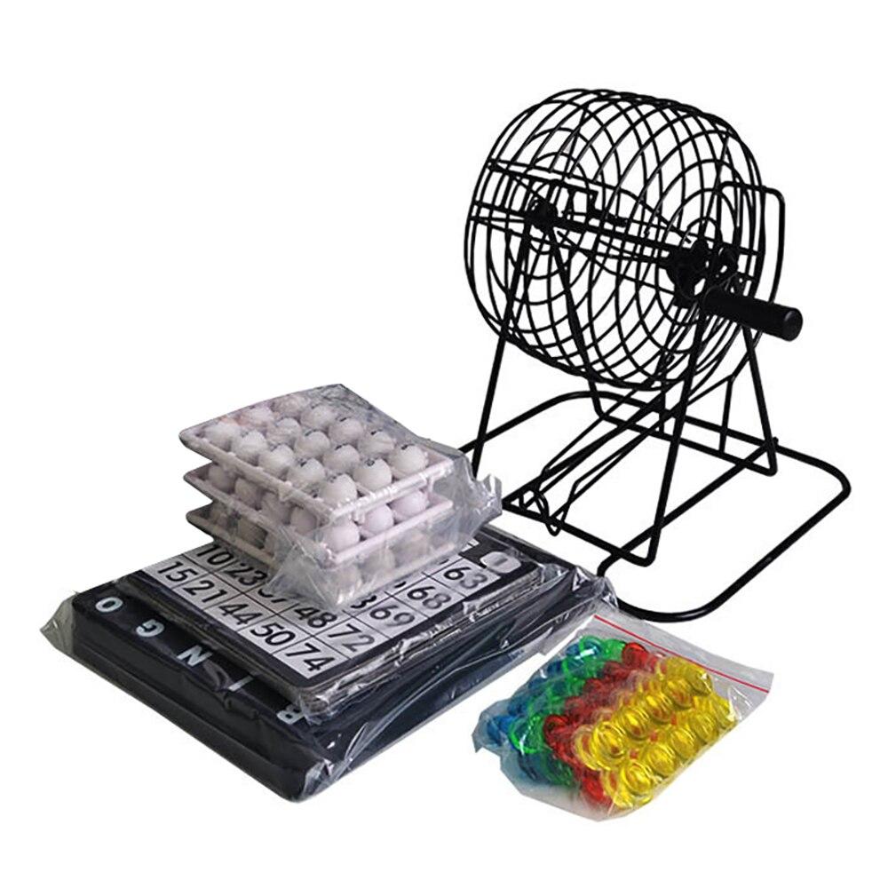Bingo conjunto de máquina de desenho para festa, jogo para festas, casa, bolas de sorte, acessórios para festas, equipamento para acampamento ao ar livre