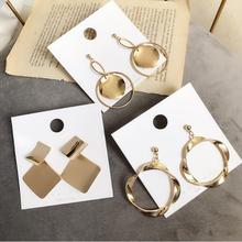 Europe and America exaggerated retro geometric temperament earrings cold light female personality fashion pop