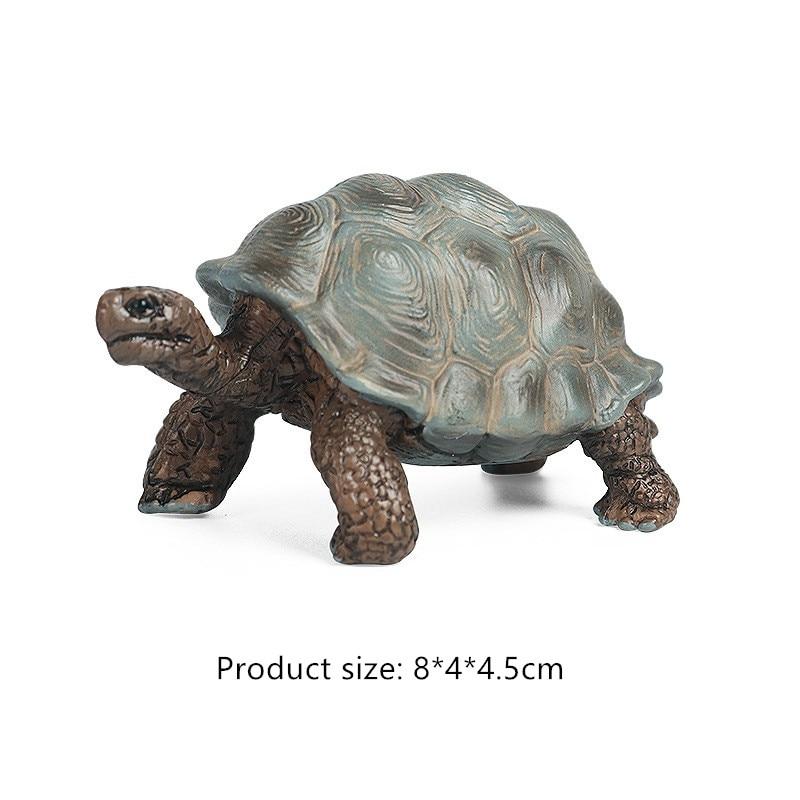 Simulation Giant Tortoise Animal Model  Land Turtle Marine Life Action  Figure Toy Educational Collection For Kids Xmas Gift