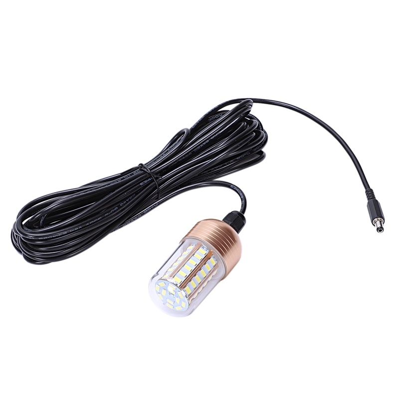 12V 30W LED Underwater Night Fishing Light Fish Finder Light With Cord Submersible LED Lamp Bait Squid Fish Attracting Light