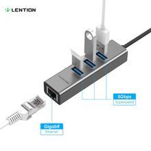 Lention Type-C USB 3.1 Hub usb-c Ethernet to RJ45 100M/1000M Multi High Speed USB 3.0 Docking Station for Macbook C Port Devices orico hr01 u3 speed 3 port usb 3 0 extension multi functional hub w ethernet rj45 port black