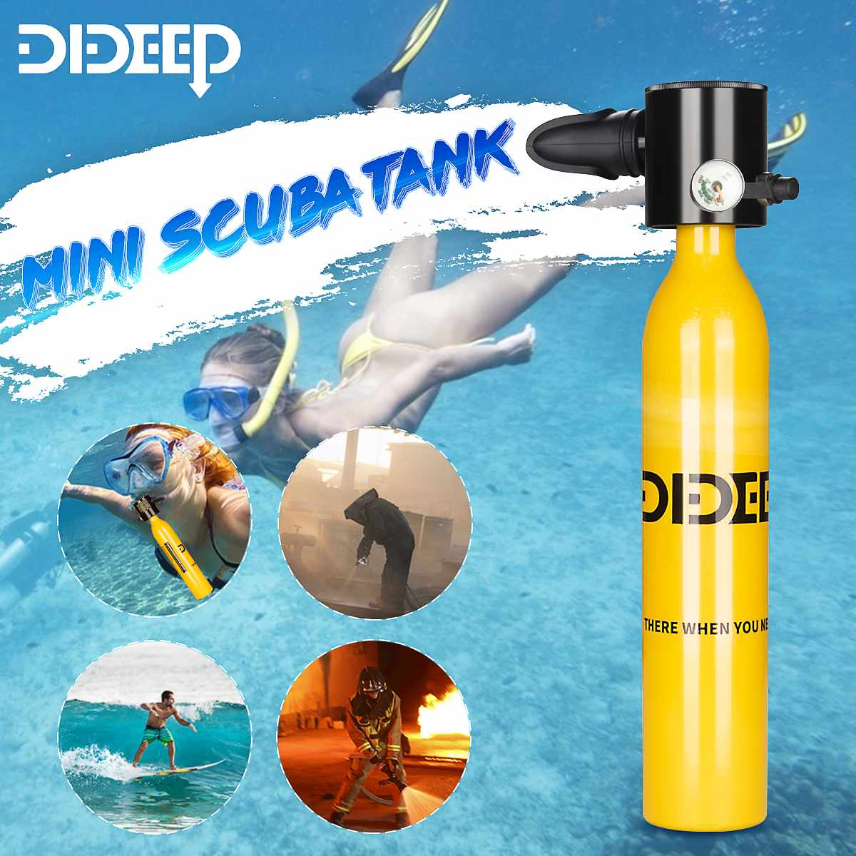 DIDEEP Scuba Oxygen Cylinder Diving System Underwater Breathing Swimming Equipment Mini Oxygen Bottle Tanks Air Tank New Version