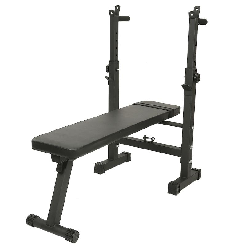 Permalink to Simple Adjustable Dumbbell Weightlifting Bed Home Folding Stool Fitness Weight Bench Squat Rack Household Barbell Bracket HWC