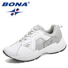 Мужские кроссовки bona черные кожаные для бега спортивная обувь