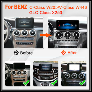 Image 2 - Snapdragon 8CORE Android 10 รถวิทยุสำหรับMercedes Benz C Class W205 GLC Class X253 W446 GPSนำทางมัลติมีเดียเครื่องเล่นDVD