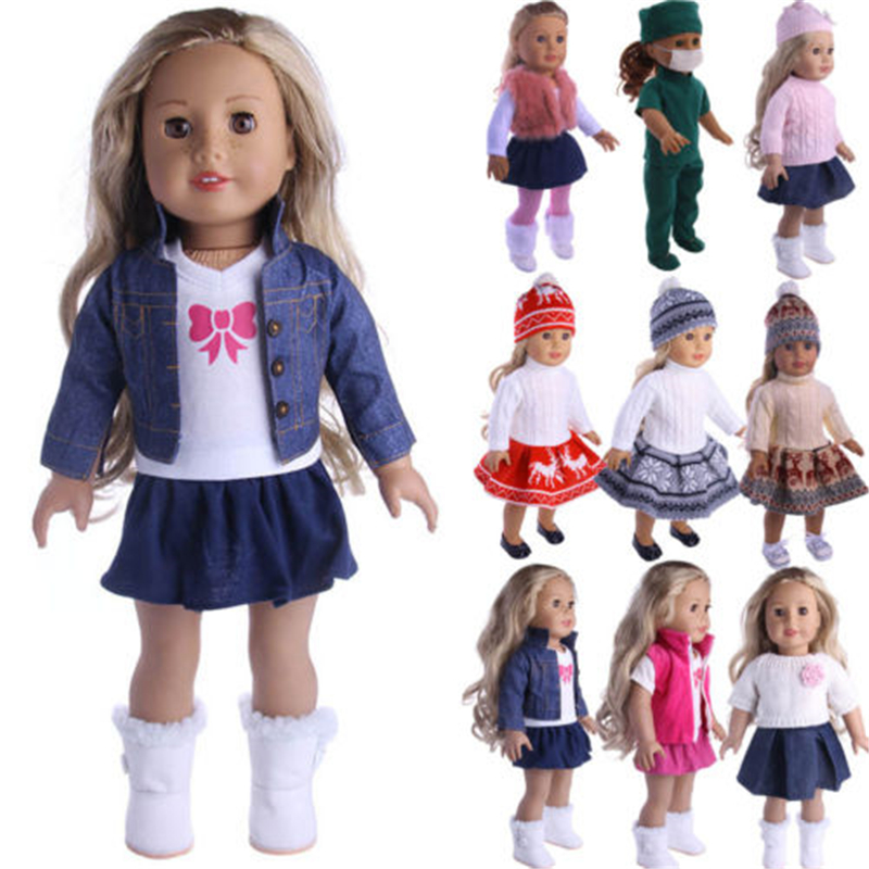 Doll Outfit Dress Clothes Accessories Lot For 18 Inch American Girl Our Generation My Life Doll Handmade DIY Kids Toys