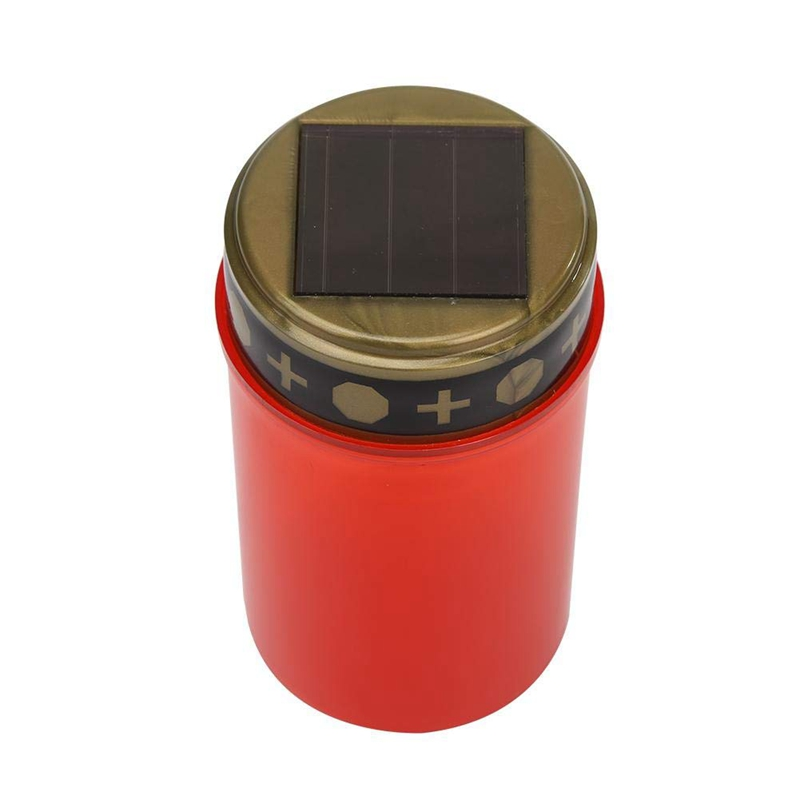 LED Grave Candle Eternal Light Memorial LED Solar Lights