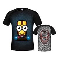 2019 New Superhero Iron Man T Shirts Compression Shirt 3D Short Sleeve T Shirt Fitness Men Brand t shirts