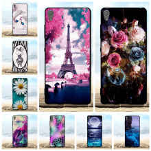 For Case Sony Xperia XA F3111 F3112 Cover Soft Silicone TPU Black Shell 3D Cute Cat Bag Cases