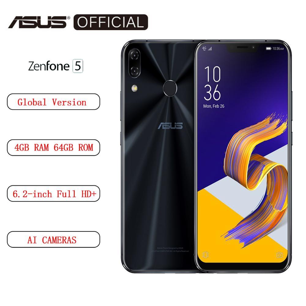 "Global Version ASUS Zenfone 5 ZE620KL 4GB RAM 64GB ROM 6.2""  Android 8.0 Smartphone  NFC OTA Update"