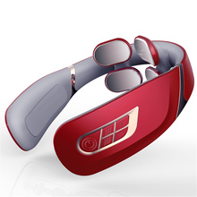 Rechargeable Wireless Portable Intelligent Electric Neck Massager With Remote Control